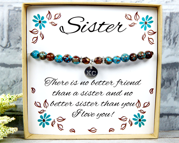 Custom Sister Bracelet – Sister Saying Gift –Jewelry Gifts – Heartfelt Gift
