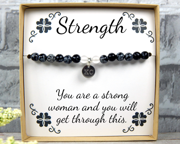 Strength Jewelry - Supportive Bracelet - Inspirational Gifts for Hard Time - Encouragement Gift for Women