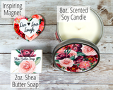 candles and soap gift