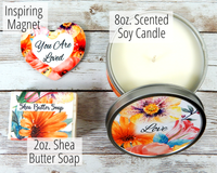 candle and soap gift basket
