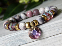 beaded goddess gemstone bracelet