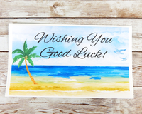 beach good luck card