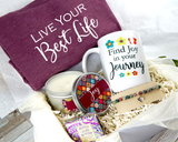 live your best life inspirational gift box for women to ship directly