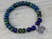 nature bracelet with tree charm