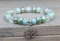 tree of life bracelet with amazonite gemstones