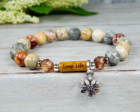 inspirational quote bracelet love life jewelry gift for women