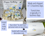 personalized birthday gift basket for women