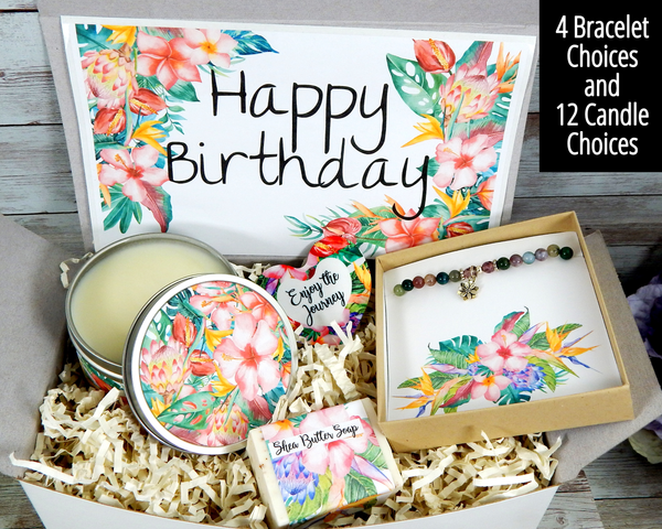 tropical birthday gift box for her