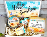 gift to send sunshine beach themed gift basket