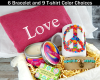 Gift Basket for Hippie Chic - Peace and Love Gifts - Peace Sign Gifts for Women