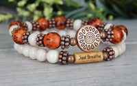 set of 2 yoga bracelets