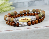 yoga bracelets for women breathe intention jewelry