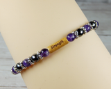 inspirational jewelry for women amethyst bracelet