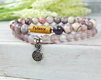 patience bracelet with infinity charm jewelry