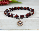 red jewelry for women nature bracelets handmade