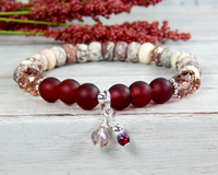 jasper bracelet red jewelry for women