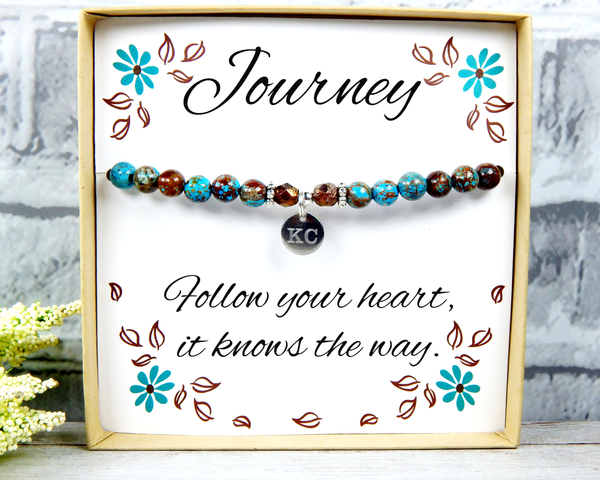 Journey Jewelry - Follow Your Heart - Journey Gift - Graduation Gift - Encouragement Cards – Inspirational Gifts for Women – Encouragement Gifts  - New Journey - Meaningful Gifts