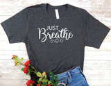 black just breathe t-shirt for women yoga shirt