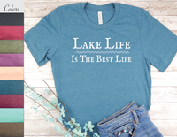lake life is the best life shirt lake living t-shirt