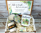life is tough gift basket with nature theme