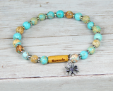yoga bracelets for women blue gemstone jewelry