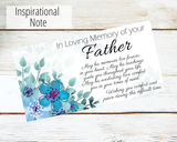 loss of father sympathy card