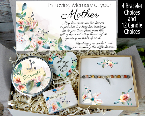 loss of mother gift basket sympathy gift box