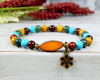 beaded yoga bracelet colorful gemstone jewelry