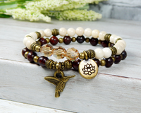 lotus flower jewelry nature bracelet for women