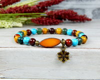 hippie jewelry for women lotus flower bracelet