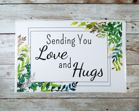 sending love and hugs card