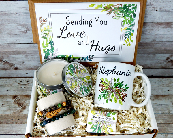 sending love and hugs gift basket