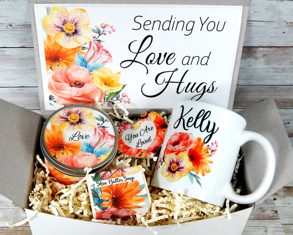 love and hugs gift basket to send to women