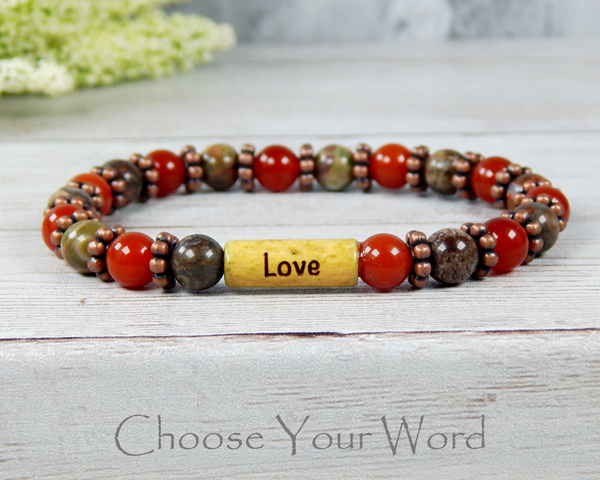 inspirational message bracelet for women love jewelry