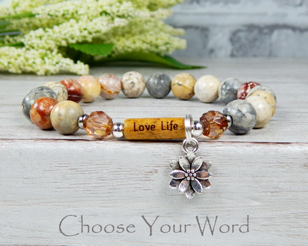 inspirational message bracelet love life gift
