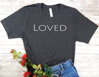 black loved t-shirt for women encouragement shirts