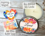 loved candle for women encouragement gifts for women