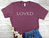 maroon loved t-shirt for women encouragement shirts