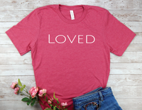 pink loved t-shirt for women encouragement shirts