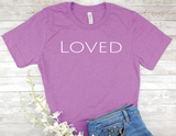 purple loved t-shirt for women encouragement shirts