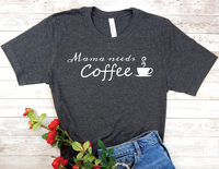 black mama needs coffee shirt new mom busy mother t-shirt