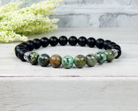 mens gemstone bracelets beaded jewelry for men
