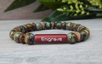 mens personalized bracelet engraved jewelry