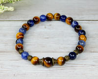 mens gemstone bracelet tiger eye jewelry