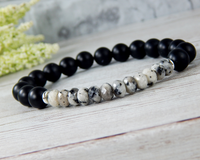 black and white mens bracelet