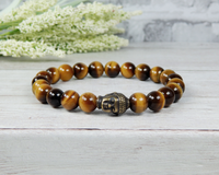 buddha bracelet tiger eye gemstone mens jewelry