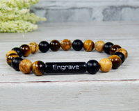 personalized mens jewelry tiger eye bracelet