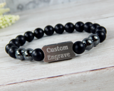 Products Mens Engraved Black Beaded Bracelet - Personalized Jewelry for Men  Duplicate  Preview  Promote  More actions Title Mens Engraved Black Beaded Bracelet - Personalized Jewelry for Men