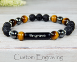 personalized jewelry for men lava diffuser bracelet