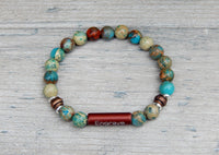 mens gemstone beaded bracelet